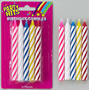Large Striped Candles - Multi