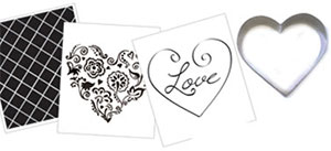 Cookie Cutter Texture Set - Heart