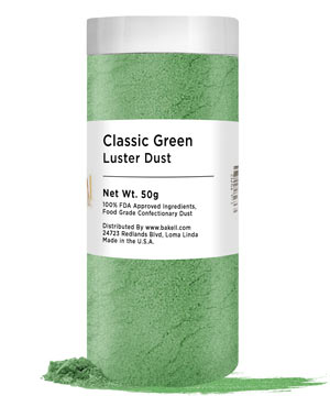 50 Gr Luster Dust - Classic Green