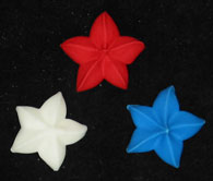 Patriotic Star Icings- R/W/B