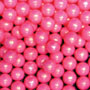 Candy Beads- 1 Lb Pearl Bright Pink