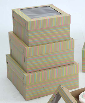 Striped Cake Boxes - 14